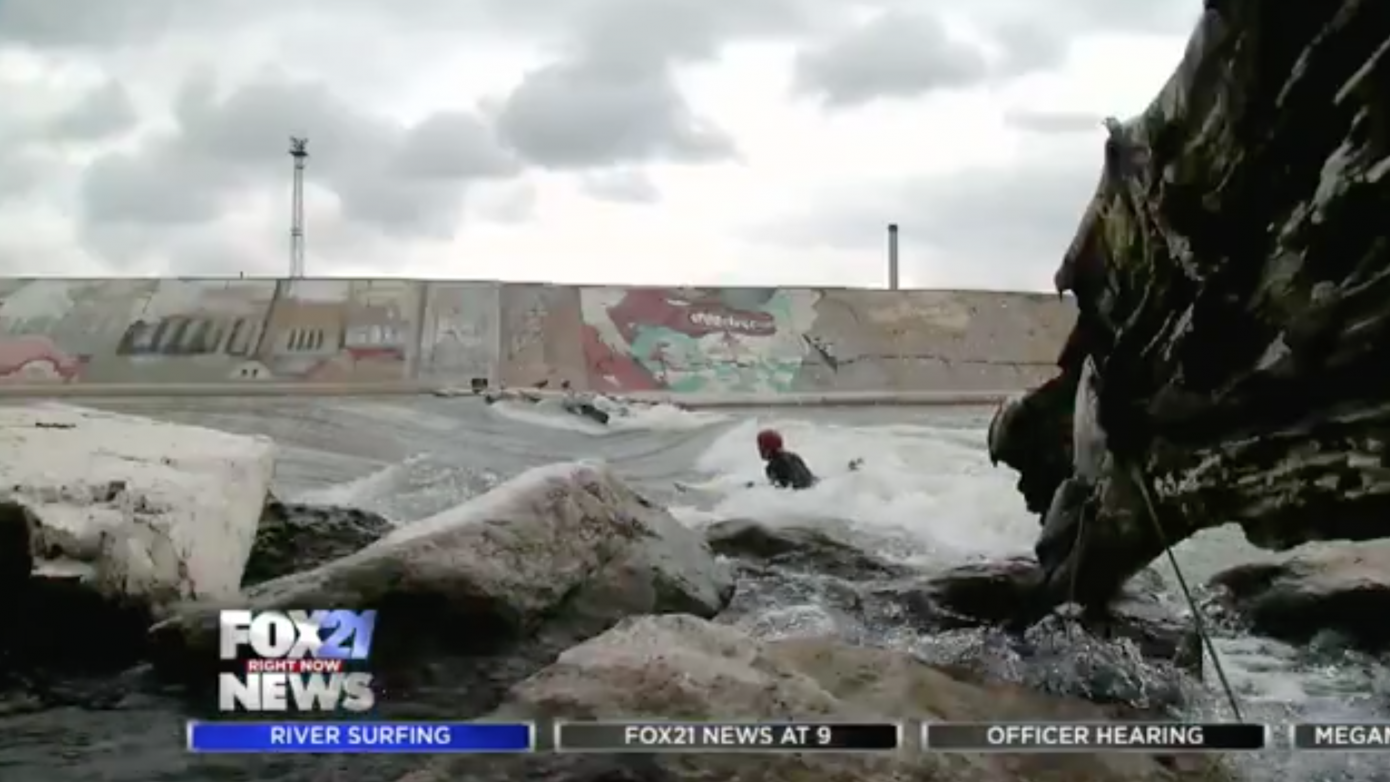 River surfing in Pueblo