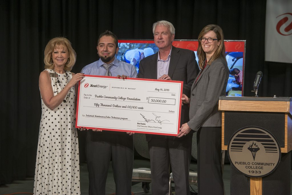 Xcel Energy donation to Pueblo Community College Foundation
